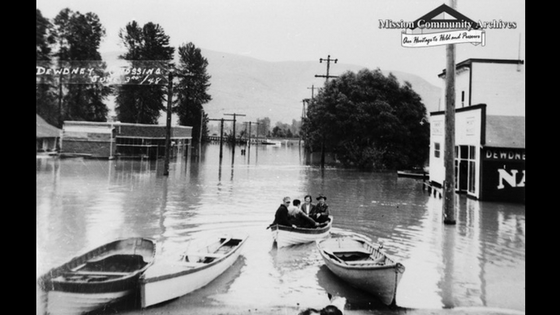 1948 Flood, Dewdney BC